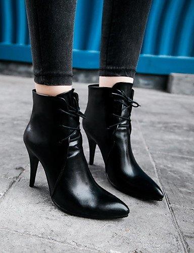 Vestido Casual Moda Botas black black Marrón Trabajo 7 us6 Negro eu37 Stiletto Rojo Oficina uk4 Tacón 5 a us6 7 5 Botas la Mujer Semicuero ZQ 5 5 5 cn37 Botines uk4 eu37 y 5 0xqOwpIp7