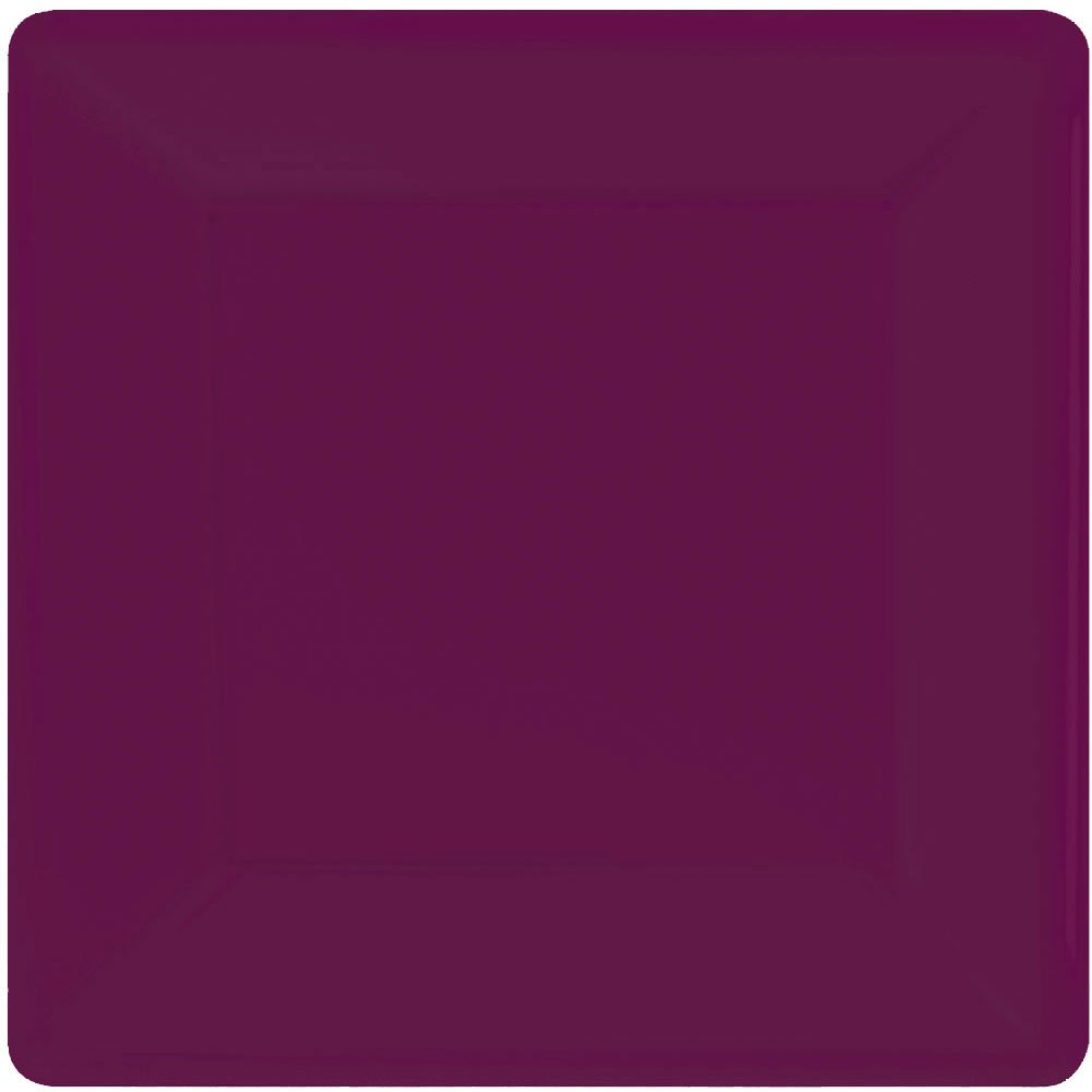 Berry Square Paper Plates | 7'' | Pack of 20 | Party Supply