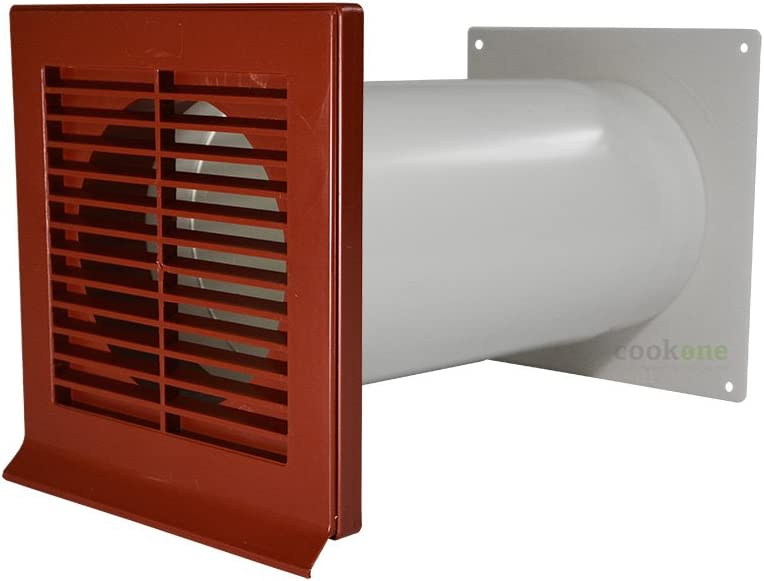 EASYTEC Muro Buzón Diámetro 150 mm rojo con tubo telescópico y válvula antirretorno: Amazon.es: Grandes electrodomésticos