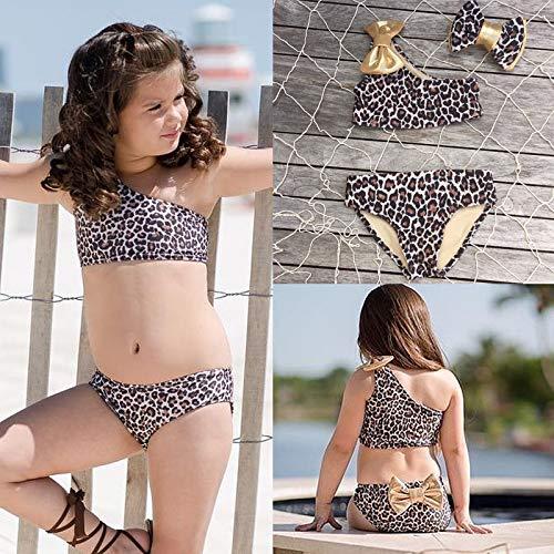 ohne Tr/äger f/ür Babys 3-teilig Leoparden-Bikini Carolilly Badeanzug f/ür M/ädchen 0-8 Jahre