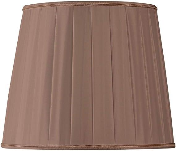 Pantalla para lámpara plisada forma US diámetro 35 x 25 x 28.5 (plisada mano) Castaña: Amazon.es: Iluminación