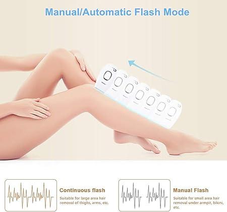 Depiladora láser permanente de cuerpo completo, dispositivo láser profesional de 100,000 pulsos de luz, ajuste de 5 engranajes y tecnología de depilación IPL, adecuada para piel clara a oscura