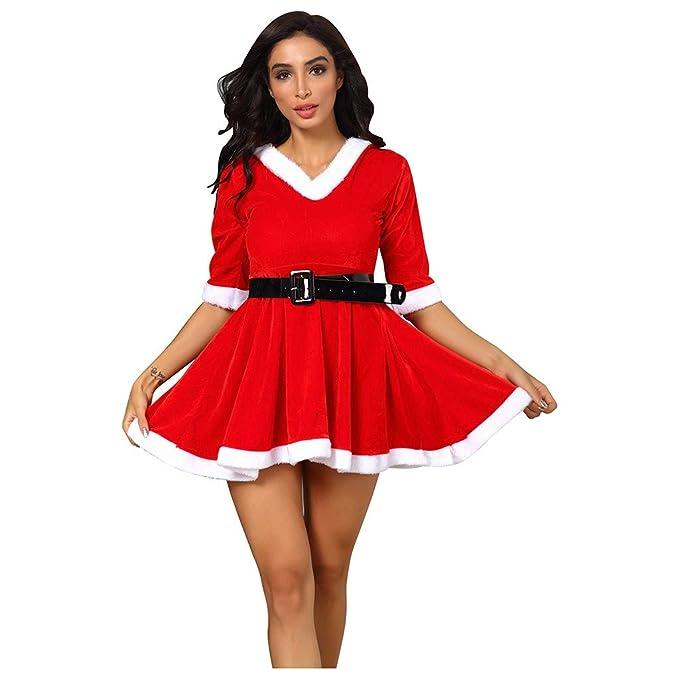 Amazon.com: Nihewoo - Disfraz de Papá Noel para mujer: Clothing