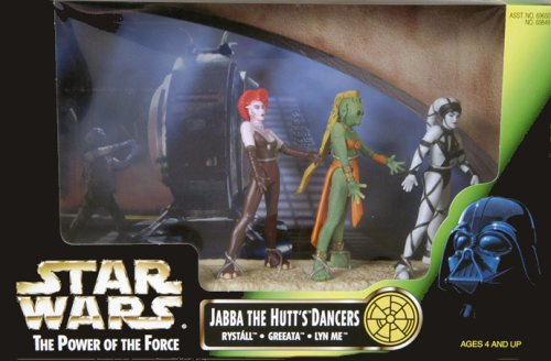 Star Wars Power of the Jedi Jabba The Hutt's Dancers (Rystall, Greeata, and Lyn Me) 3.75 Inches