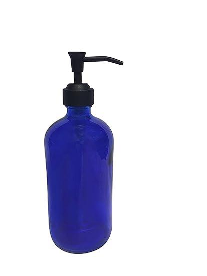 Negro troqueles con forma estilo Bomba de dispensador de jabón de botella de vasos de cristal