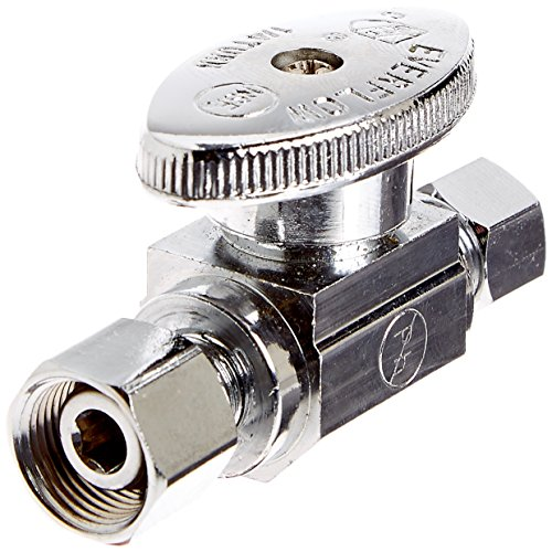Everflow Supplies 82314PR-NL Lead Free 3/8-Inch Comp FIP x 1/4-Inch Compression MIP Quarter Turn Add On (Comp Fitting)
