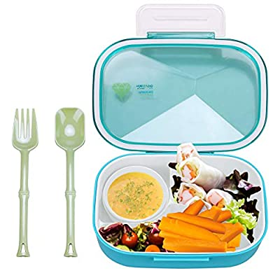Bento Lunch Box – 3 Tier Box Containers – FDA Approved, BPA Free Meal Box For Adults & Kids