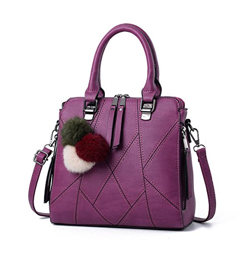 Bags Top Bags Leather Bags Handle Shoulder Cross Purple Faux Body Women's Handbags 8qEB078w
