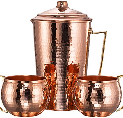 CopperBull Hammered Copper Moscow Pitcher product image