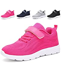 adituo Kids Lightweight Sneakers Boys and Girls Cute Breathable Athletic Walking Casual Running Shoes
