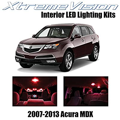 XtremeVision Interior LED for Acura MDX 2007-2013 (13 Pieces) Red Interior LED Kit + Installation Tool: Automotive