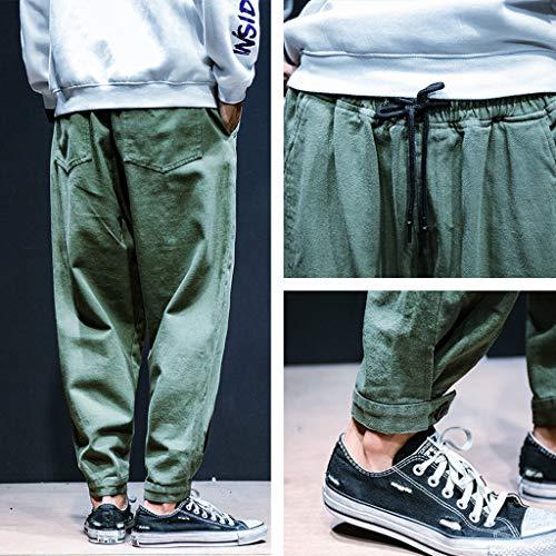Petits Automne Pantalons À Neuvième Slack Larges Pour Décontractée Mode Vert Hiver Hommes Salopette kinlene Casual Bwqg7xAA