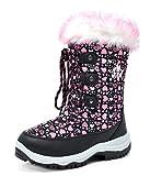 Arctiv8 Little Kid Nordic Black Pink Ankle Winter Snow Boots Size 1 M Us Little Kid | amazon.com