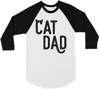 365 Print Cat Dad - Camiseta de béisbol para Hombre Blanco Blanco L: Amazon.es: Ropa y accesorios