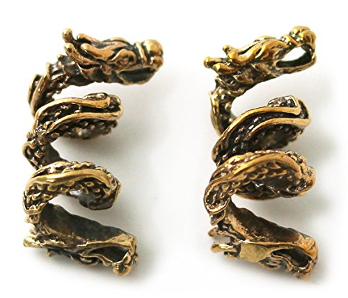 Lynnaround Bronze Norse Viking Dragon Beard Beads Rings