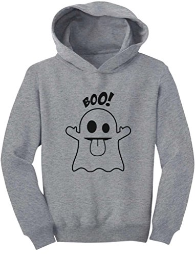 [TeeStars - Baby Boo Ghost Costume Cute Easy Halloween Toddler Hoodie 5/6 Gray] (Boo Costume Toddler)