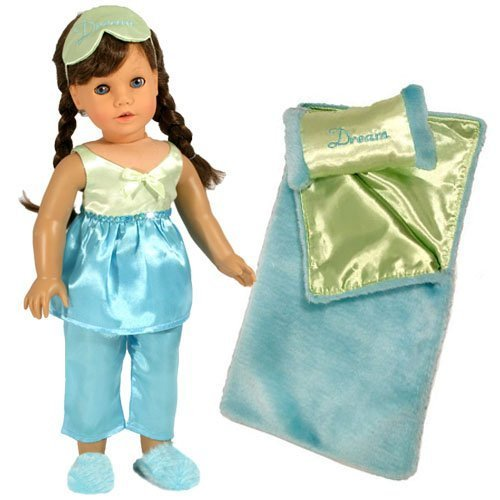 3fcd1ad1ad 18 Inch Doll Pajamas   Doll Bedding 6 Pc. Gift Set by - Import It All