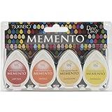 Tsukineko 4-Pack Assortment Memento Dew Drops Fade-Resistant Ink