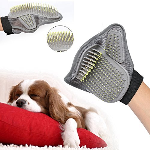 Xing Ruiying Pet Grooming Glove for Brush ,Shower and Massage Gloves /Skin care / cleaning / Hair Removal / Massage Dog / Cat / Rabbit /Pet Grooming and Pets' Hair Removal Tool