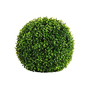 Urban Trends Collection 42202 4 Piece Large Natural Green Polyurethane Round Boxwood Ball Topiary Decor44; 12.00 x 12.00 x 12.00 in. 111
