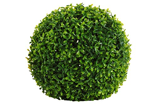 Urban Trends Collection 42202 4 Piece Large Natural Green Polyurethane Round Boxwood Ball Topiary Decor44; 12.00 x 12.00 x 12.00 in. from Urban Trends Collection
