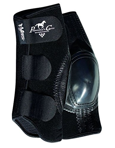 Pro Choice VenTECH Slide-Tec Skid Boots - Black, Short 10.5 tall (Rancher Short)