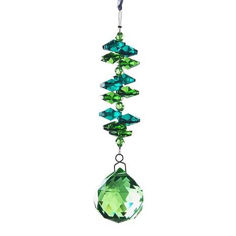 H y D 30 mm para colgar verde cristales bola Prisma colgante ...