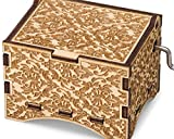 TheLaser'sEdge, Personalizable Damask Music Box, Laser Engraved Wood (Standard, Davy Jones)