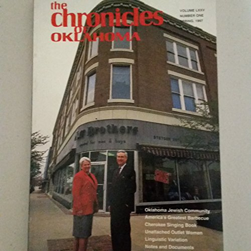 The Chronicles of Oklahoma Volume LXXV Spring 1997
