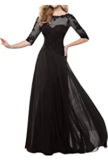 Fanmu Mothers Lace Half Sleeve Mother of Bride Dress Prom Gowns
