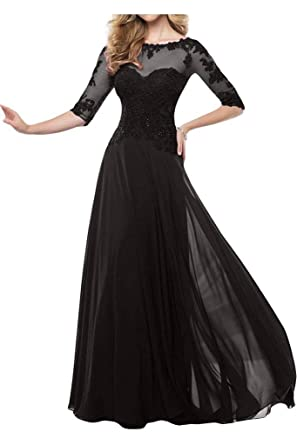 Fanmu Mother\'s Lace Half Sleeve Mother of Bride Dress Prom Gowns at ...