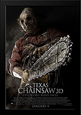 Texas Chainsaw 3D 28x36 Large Black Wood Framed Movie Poster Art Print