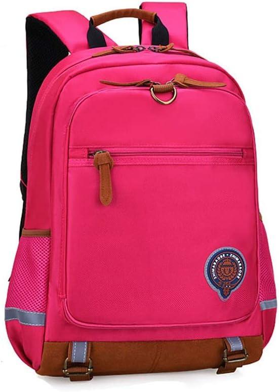 Color : Rosr red, Size : 402820cm Balalafairy-sch Lightweight School Bookbags Waterproof Primary School Backpack Bookbag for Elementary Boys Girls Travel Rucksack Daypack Kids Rucksack Girls Boys