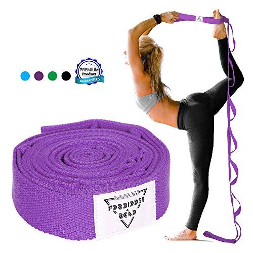 Forbidden Road StretcAForbidden Road Stretch Strap with Multi- Loop Exercise Strap For Physical Therapy Yoga Dance Pilates Greh Strap with Multi- Loop Exercise Strap (Purple, 1.578 inch (3.8200cm ))