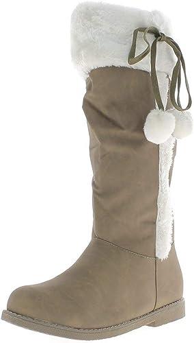 Taille Bottes Femme de à Grande 2 fourrées Talon Camel 5cm vm08wNn