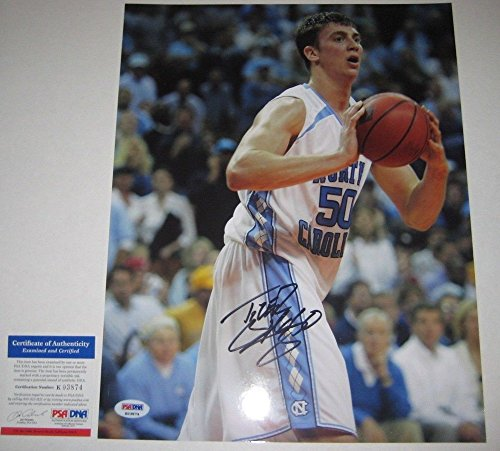 Tyler Hansbrough North Carolina - Autographed Tyler Hansbrough Signed North Carolina Tar Heels 11x14 Photo - PSA/DNA Certified
