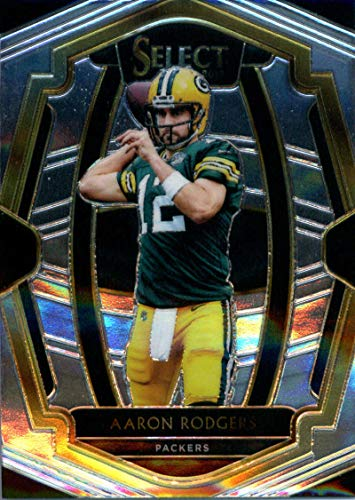 (2018 Select Football #156 Aaron Rodgers Green Bay Packers Premier Level Official NFL Trading Card From)