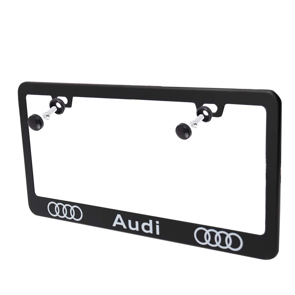Luckily for Lexus Auto Sport 2pcs High-Grade License Plate Frames with Screw Caps Set Stainless Steel Frame Applicable to US Standard Cars License Plate Fit Corvette Accessory