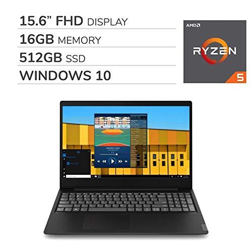 "Lenovo IdeaPad S145 2019 Premium 15.6"" FHD Laptop Notebook Computer,AMD Ryzen 5-3500U 2.0 GHz, AMD Radeon Vega 8, 16GB RAM, 512GB SSD, No DVD, Wi-Fi, Bluetooth, Webcam, HDMI, Windows 10 Home"