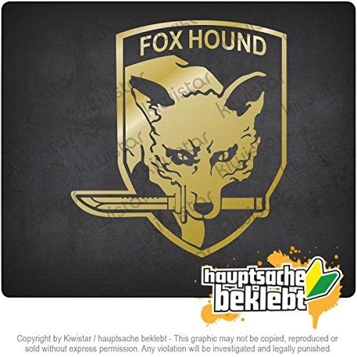 "Kiwistar Fox Hound 4,3"" x 3,9"" 15 Colors - Neon + Chrome! Decal Sticker Bumper Cut Vinyl Motorcycle"