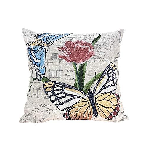 Littay Pillowcase High-Grade Embroidery Pillow Double-Sided Fabric Pillow Sofa Pillow]()