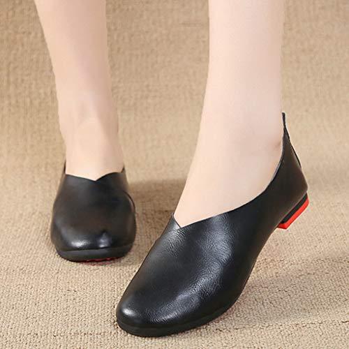 Ocio Planos Antideslizante Lzw Zapatos Black De Cómodo Baile Suave Ballet X7gOTqaOn