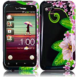 Green Flower Hard Case Cover for HTC Rhyme Bliss 6330