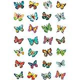 """HERMA - Autocollants MAGIC """"papillons"""", 28 sticks sur feuille 85x120mm"""