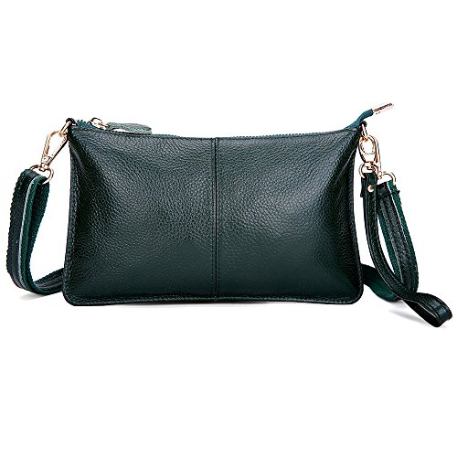 PU leather Crossbody Bag for Women Fashion Shoulder Bag Small Wristlet Clutch Purse Phone Wallets Handbag Blackish green