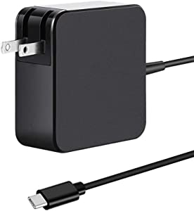 90W USB Type C Power Adapter Charger for MacBook/Pro/Air 2018 Lenovo, ASUS, Acer, Dell, Xiaomi Air, Huawei Matebook, Thinkpad Galaxy S10 S9 and Other Type C Port Laptops
