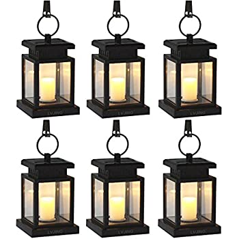 solar hanging lanterns outdoor LVJING Solar Lights Outdoor, Hanging Solar Lantern Set Waterproof  solar hanging lanterns outdoor