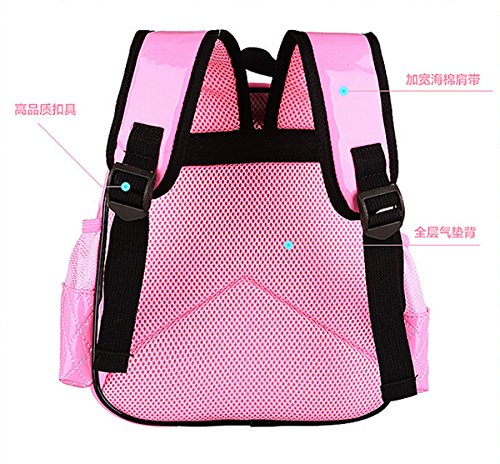 Zhuhaixmy Leather Backpack fPrimary Pink Children Waterproofrose Bow School PU Students Bags 0Ex0rq