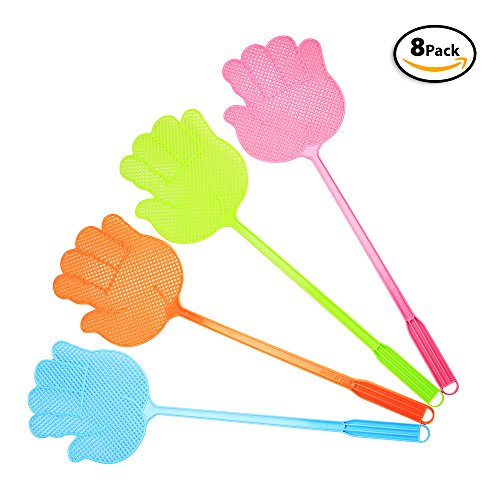8 Kid Fly Swatters Whacks Mosquitoes, Bugs. – Includes eB...