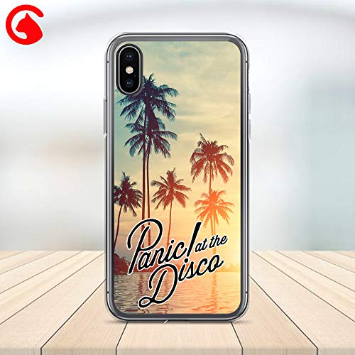 CatixCases Panic At The Disco Phone Case, Logo Gift iPhone Case Cell Plastic Сlear Case for Apple iPhone X/XS/XR/XS Max / 7/8 / plus iPhone 6 / 6S plus Protector Protective Cover Art Design